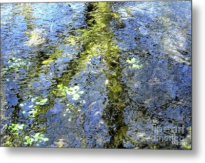 Watercolor Blues Metal Print by Tami Quigley