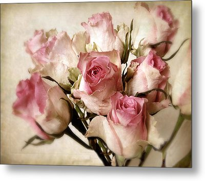 Watercolor Bouquet Metal Print by Jessica Jenney