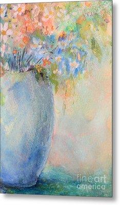 Watercolor Bouquet Metal Print by Pattie Calfy