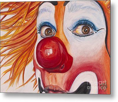 Watercolor Clown #10 Payaso Kiruz Bazo Metal Print by Patty Vicknair
