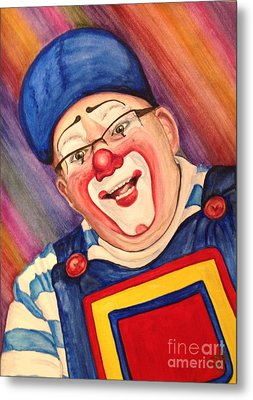 Watercolor Clown #20 Lee Andrews Metal Print by Patty Vicknair