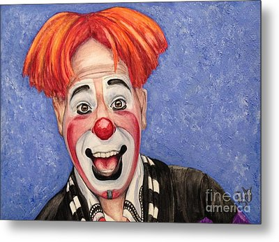 Watercolor Clown #7 Ryan Combs Metal Print by Patty Vicknair