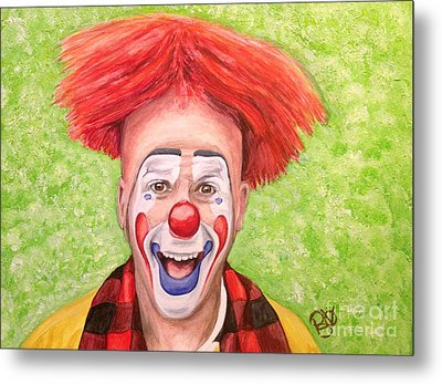 Watercolor Clown #8 Steve Copeland Metal Print by Patty Vicknair