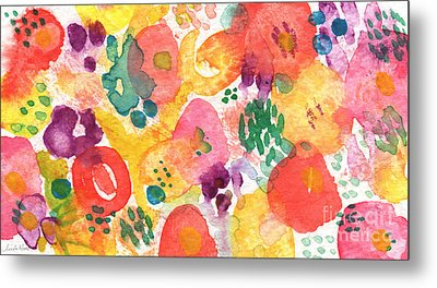 Watercolor Garden Metal Print