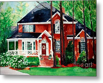 Watercolor Home Portrait 1 Metal Print