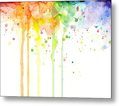 Watercolor Rainbow Metal Print