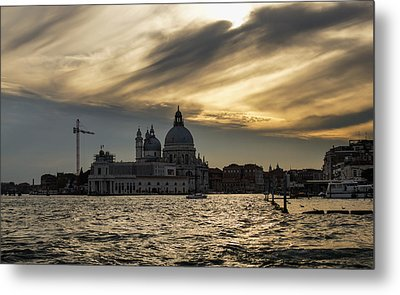 Metal Print featuring the photograph Watercolor Sky Over Venice Italy by Georgia Mizuleva