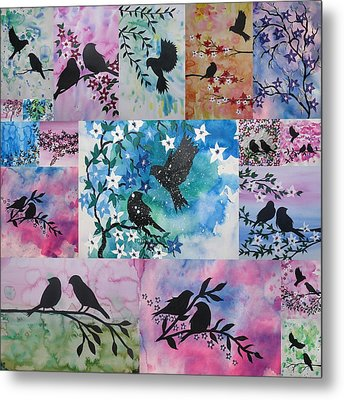 Watercolour Birds Metal Print by Cathy Jacobs