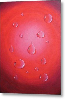 Waterdrops Metal Print by Sven Fischer