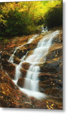 Metal Print featuring the photograph Waterfall @ Sams Branch by Photography  By Sai