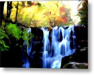 Waterfall 1 Metal Print by Lanjee Chee