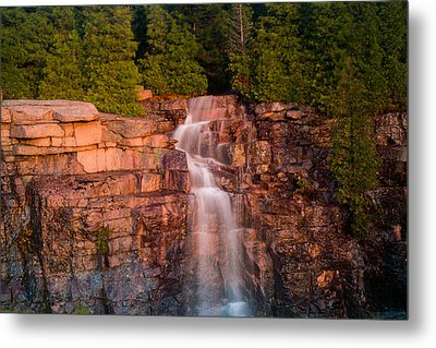 Waterfall Metal Print by Allan Johnson