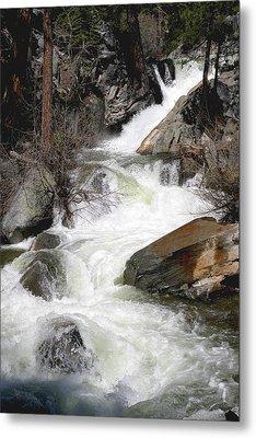 Waterfall Along The Rubicon Trail - Lake Tahoe Metal Print by Patricia Sanders