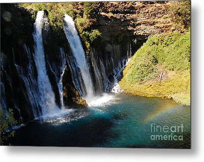 Metal Print featuring the photograph Waterfall And Rainbow 4 by Debra Thompson