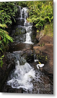Waterfall And Stream Metal Print