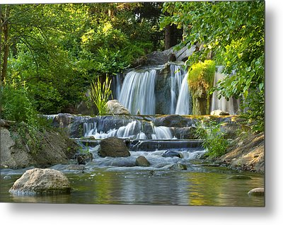 Waterfall At Lake Katherine 2 Metal Print