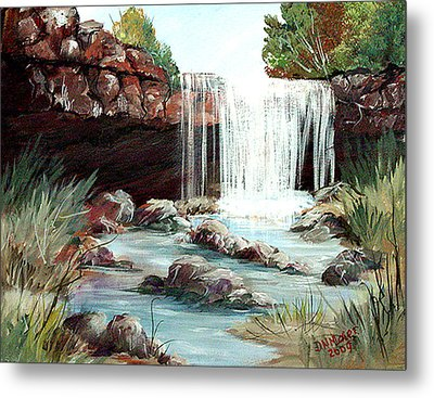 Waterfall Metal Print by Dorothy Maier