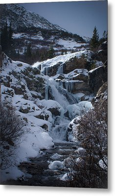 Waterfall Frozen In Time Metal Print by Michael Bauer
