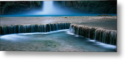 Waterfall In A Forest, Mooney Falls Metal Print