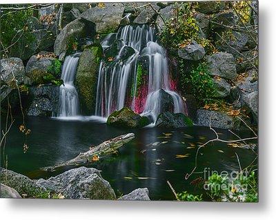 Waterfall In Boise Metal Print by Vishwanath Bhat