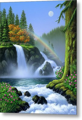 Waterfall Metal Print by Jerry LoFaro