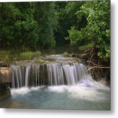 Waterfall Lee Creek Ozarks Arkansas Metal Print