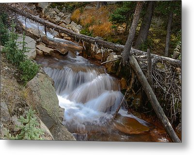 Waterfall Near Breckenridge Metal Print