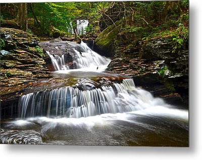 Waterfall Oasis Metal Print by Frozen in Time Fine Art Photography