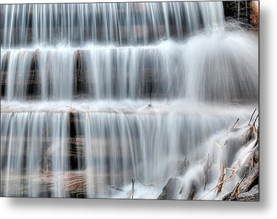 Waterfall On Waba Creek Metal Print by Rob Huntley