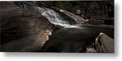 Waterfall Panoramic Metal Print by Michael Murphy