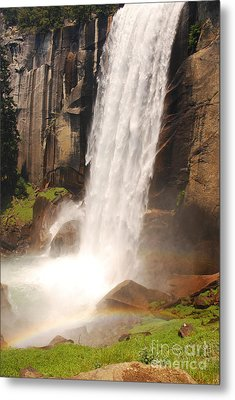 Metal Print featuring the photograph Waterfall Rainbow by Mary Carol Story