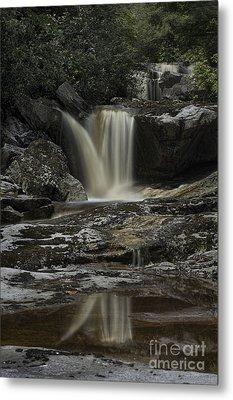 Waterfall Reflection On Big Run River  Metal Print by Dan Friend