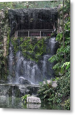Metal Print featuring the painting Waterfall by Sergey Lukashin