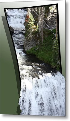 Waterfall Metal Print by Shane Bechler