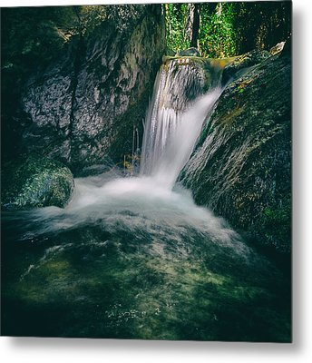 Waterfall Metal Print by Stelios Kleanthous