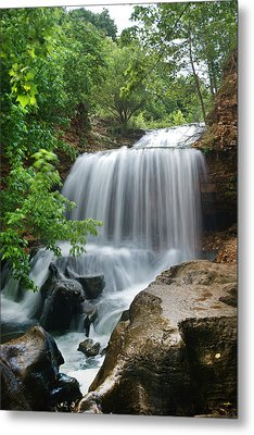 Waterfall Tanyard Creek Arkansas Metal Print by Tim Fitzharris