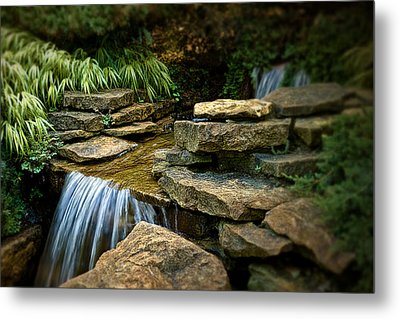 Waterfall Metal Print by Tom Mc Nemar