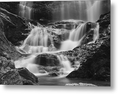 Waterfall Vermont Water Black And White Landsape Metal Print by Andy Gimino