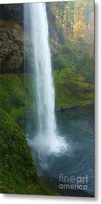 Waterfall View Metal Print