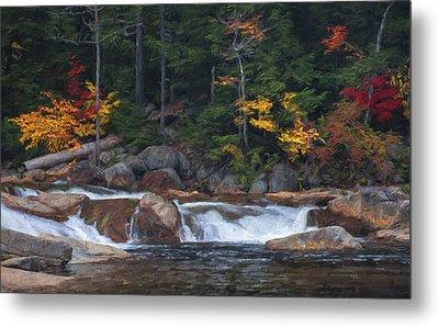 Waterfall - White Mountains - New Hampshire Metal Print