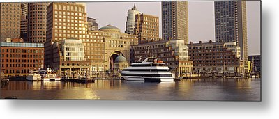 Waterfront, Boston, Massachusetts, Usa Metal Print by Panoramic Images