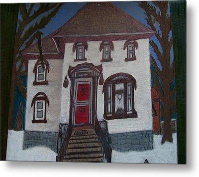 Historic 7th Street Home In Menominee Metal Print