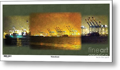 Metal Print featuring the digital art Waterfront by Kenneth De Tore