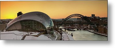 Waterfront Of Winking Eye Bridge Metal Print by John Short