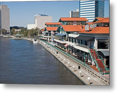 Waterfront Shopping And Dining Complex Metal Print