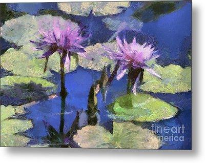 Waterlilies Metal Print by Teresa Zieba
