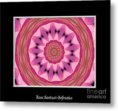 Metal Print featuring the photograph Waterlily Flower Kaleidoscope 3 by Rose Santuci-Sofranko