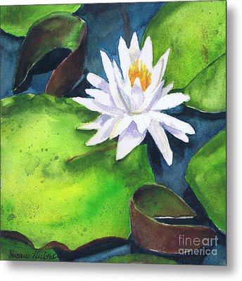 Metal Print featuring the painting Waterlily by Susan Herbst