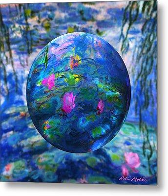 Lilly Pond Metal Print by Robin Moline