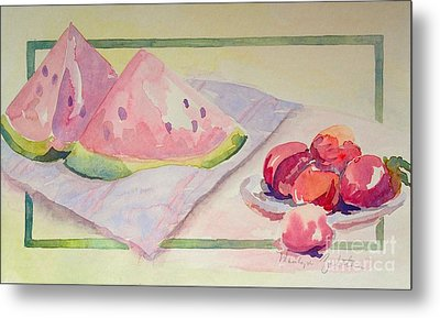 Watermelon Metal Print by Marilyn Zalatan
